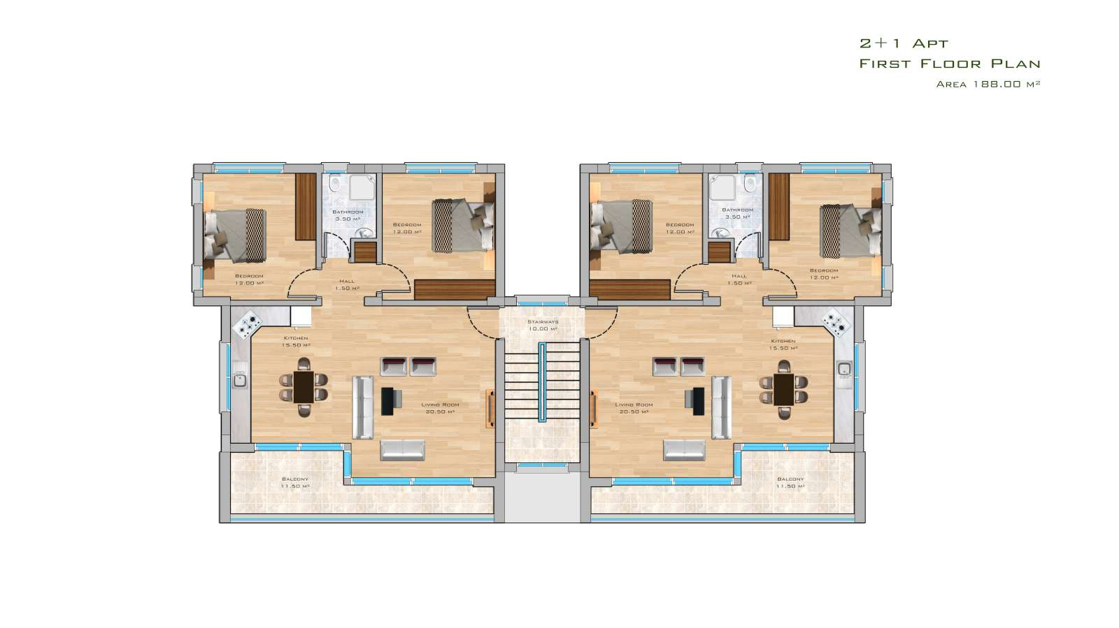 2-BEDROOM-APARTMENT-WITH-COMMUNAL-POOL-IS04